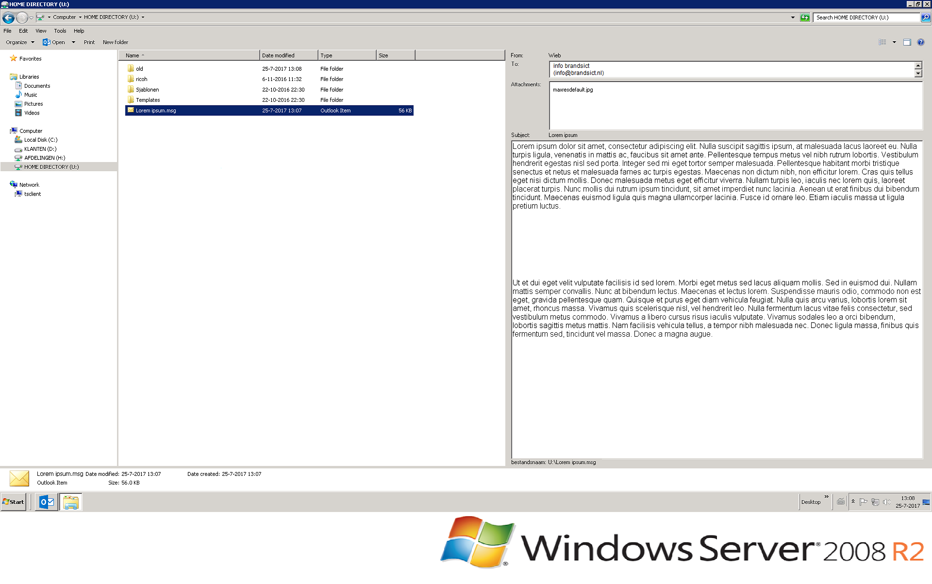 64 bit .msg preview pane for windows explorer